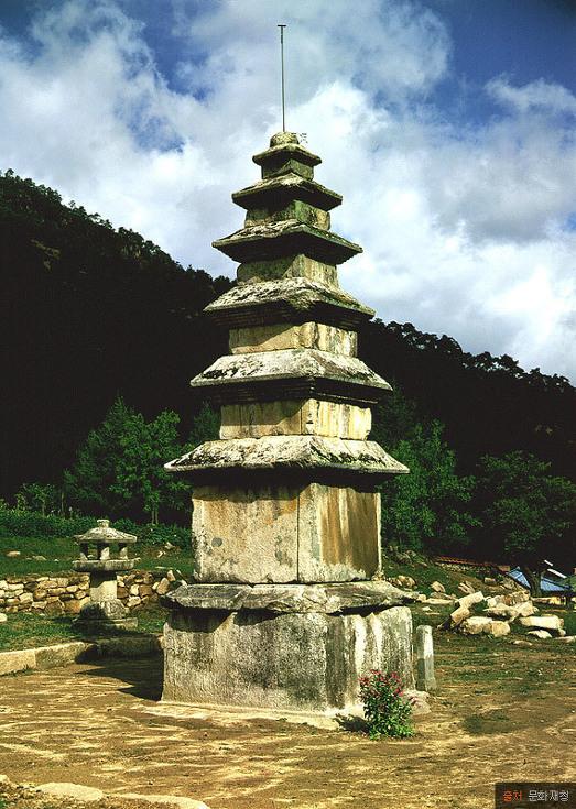 충주 미륵리 오층석탑 문화재 사진