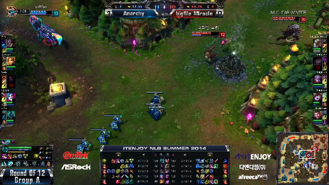 ITENJOY NLB 12강 A조 1매치 Anarchy vs bigfile Miracle 2경기 #2